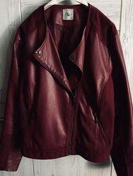 Креативная косуха кожанка кожаная куртка бомбер tu.