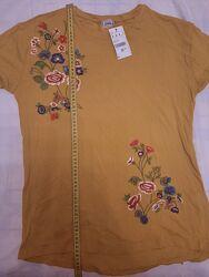 Новая базовая футболка Pimki с вышивкой, М заказана из Испании