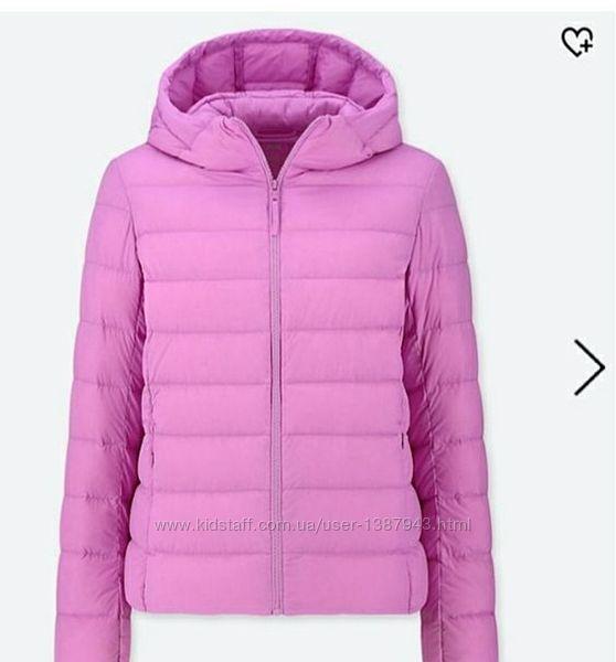 Легкий натуральный пуховик уникло, демисезонная курточка seamless light