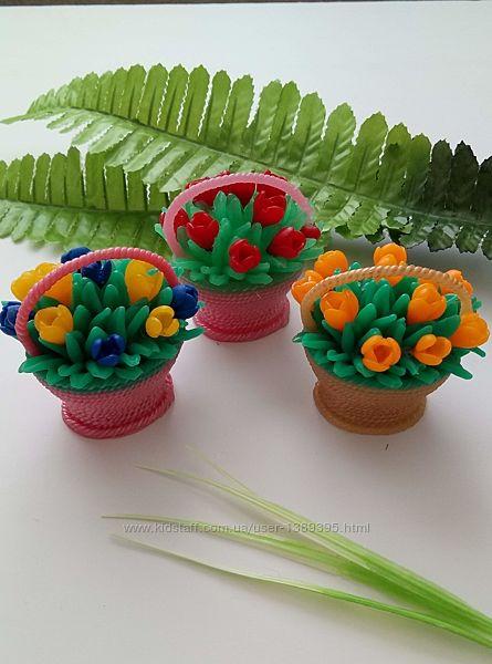 Мыло ручной работы корзинка с цветами
