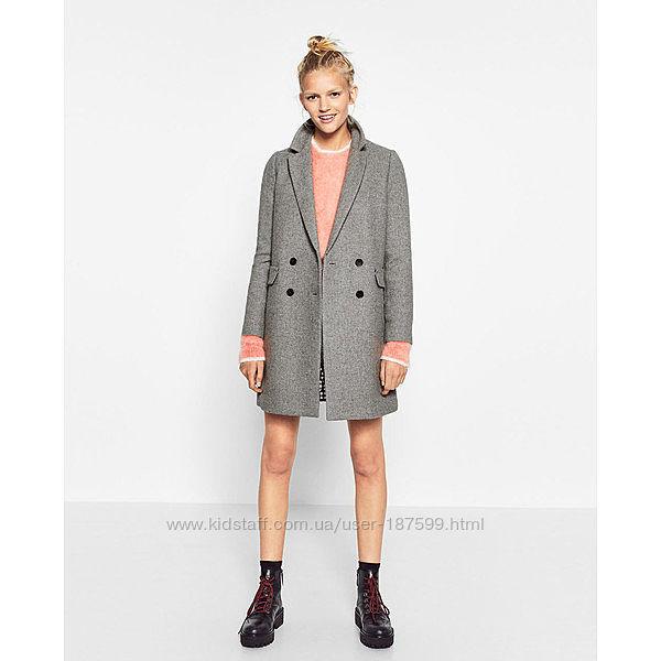 Актуальное женское шерстяное пальто zara