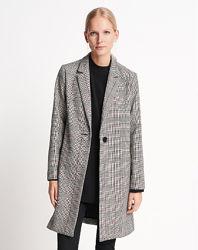 Легкое женское демисезонное пальто на одну пуговицу в клетку someday тренч