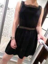 Платье эксклюзивное оригинальное черное ромпер сарафан s m l оверсайз