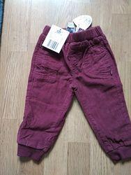 Штаны брюки вельветовые на подкладке