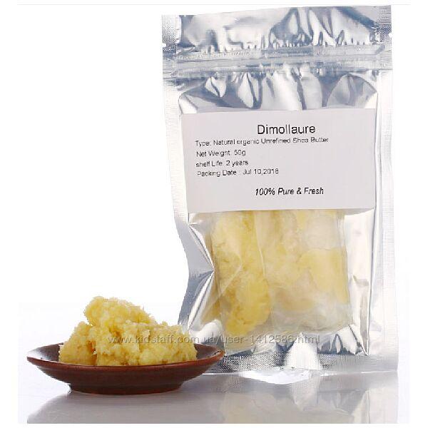 Натуральное органическое не рафинированное масло ши Dimollaure