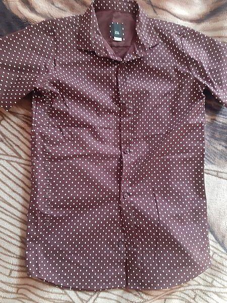 Новая брендовая рубашка 134 см короткий рукав