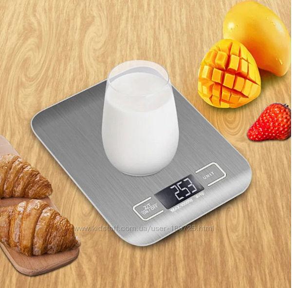 Сенсорные кухонные электронные весы до 10 кг