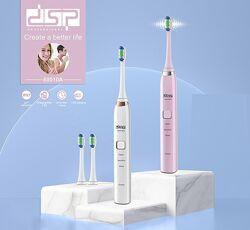Электрическая зубная щетка DSP с 2 насадками и зарядкой от USB