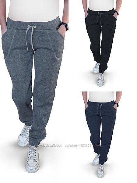 Теплые и очень удобные женские штаны джоггеры. на флисе. жіночі спортивні