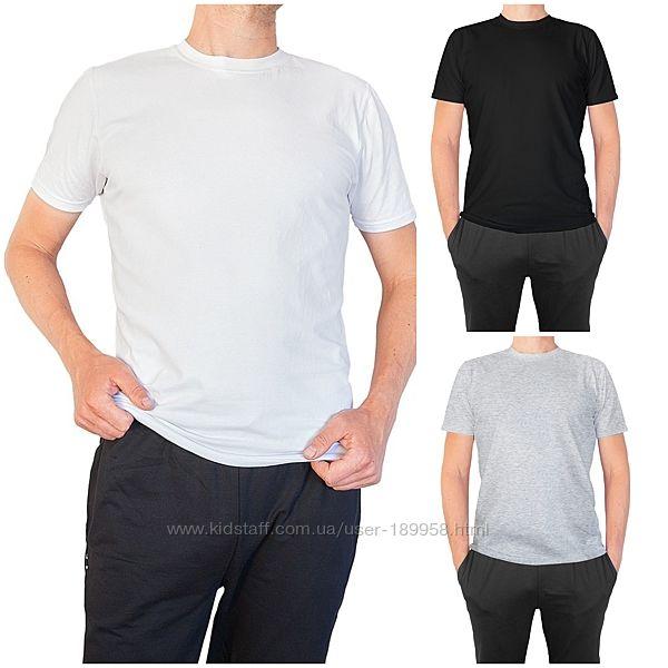 Мужские базовые футболки отличного качества. Хлопок 46-60р. Скидки