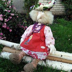 Баба Яга под заказ - авторская игрушка, ручная работа