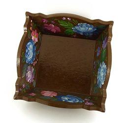 Шкатулка для кухонных мелочей, конфетница Пионы, авторская ручная работа