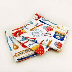 Кухонные вафельные полотенца Десерт, хлопок, комплект 3шт 40х70