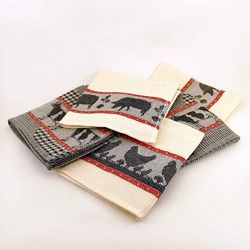 Кухонные полотенца-салфетки Ферма, комплект 5шт, 30х50