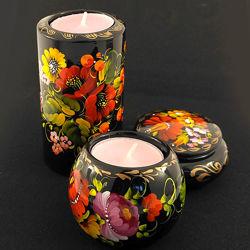 Традиционные украинские сувениры, шкатулки, подсвечники. Украшение для дома