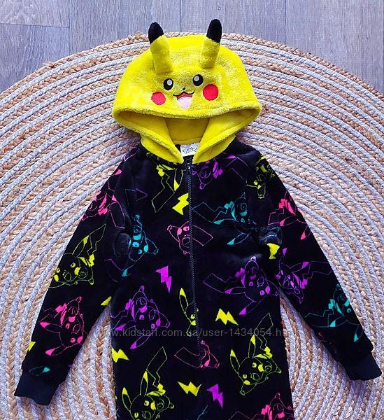 Слип, пижама, кигуруми покемон Пикачу на 7лет 122см.