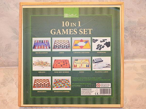 10 in 1 games set, набор классических настольных игр