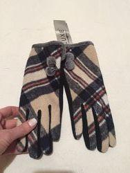 Новые фирменные стильные перчатки Luxe с сенсорными пальцами
