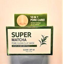 глиняна маска з чаєм матча Some By Mi super matcha pore clean clay mask