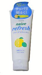 освіжаюча  пінка з лимоном Kracie naive refresh lemon cleanser