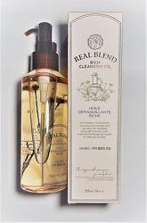 гідрофільне масло для сухої шкіри TheFaceShop real blend rich cleansing oil