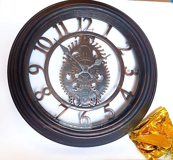 Часы настеннын, годинник Quartz D40 черные