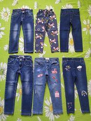 Стильные джинсы, скинни для девочки 3-4 года