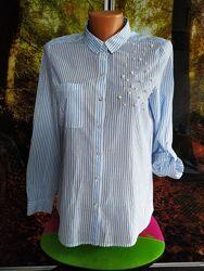 Стильная рубашка с бусинками 44р- ONLY