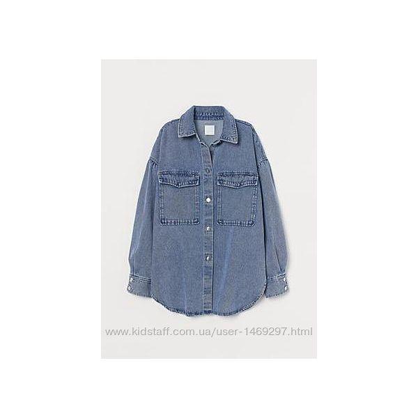 Куртка-рубашка из денима h&m