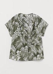 Хлопковая блузка с v-вырезом h&m