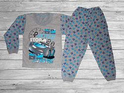 Пижама для мальчиков, хлопок, деми, тачки, в наличии