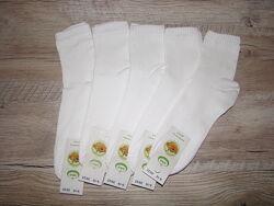 Носки демисезонные белые высокая резинка, носки короткие белые универсальны