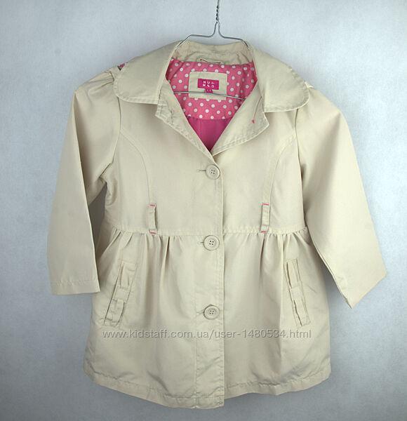 Куртка ветровка плащ тренч деми для девочки Nutmeg на 4-5 лет 104-110 см