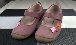 Кожаные мокасины туфли Vertbaudet для девочки размер 29