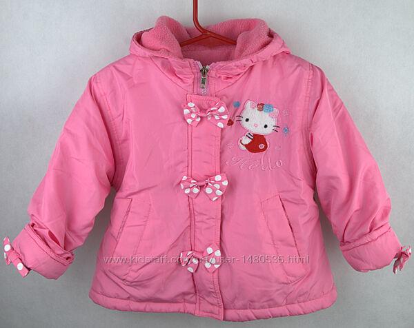Куртка Hello Kitty деми на  флисе на 2 3 года 92 98 см весна осень