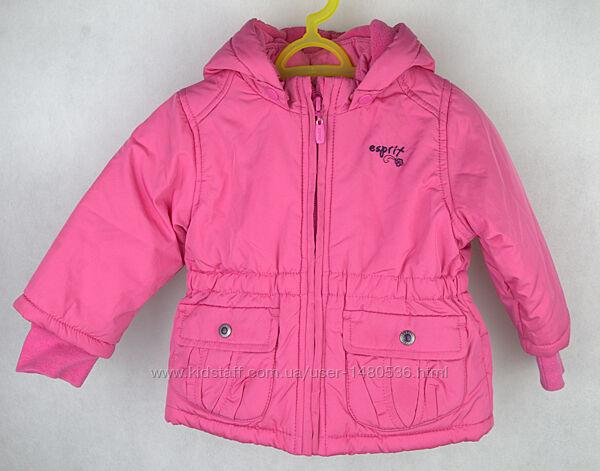 Куртка деми Esprit на флисе на 3 6 мес 62 68 см весна осень