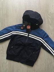 Куртка - ветровка для мальчика на флисе cool club польша