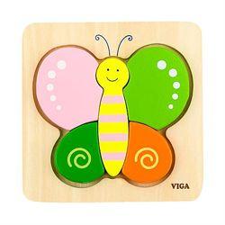 Пазл деревянный из крупных деталей для самых маленьких детей Бабочка