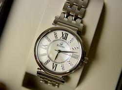 БРИЛЛИАНТЫ Женские часы с бриллиантами Bulova подарок девушке