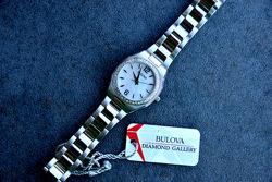 БРИЛЛИАНТЫ Женские часы с бриллиантами 46шт. Bulova подарок девушке