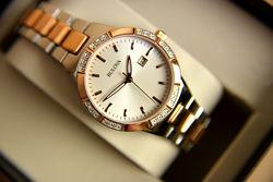 Женские часы с бриллиантами Bulova подарок девушке