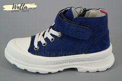 26-30р Clibee Р700 Клиби детские демисезонные ботинки синие мальчику хайтоп