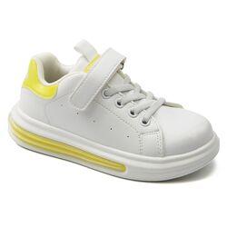 32-37р Apawwa Сlibee подростковые белые с желтым кроссовки-кеды в школу