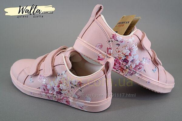 27-30р American Club ES Кроссовки кросівки кеды девочке американ клаб розов