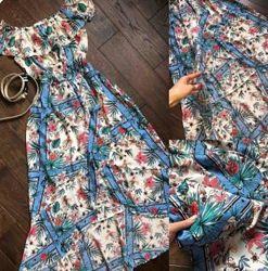 Длинный сарафан, летний сарафан, женское платье р.42/xl
