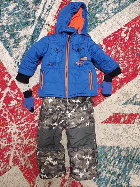 Раздельный зимний термо комбинезон на мальчика 2-3 года Rugged Bear
