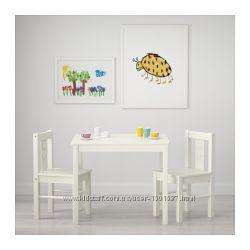 Комплект стіл  стільчик KRITTER IKEA, стол, стул икеа