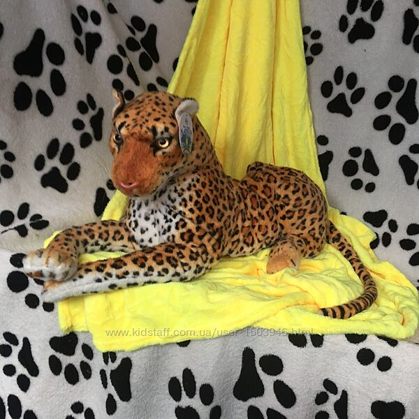 Плед с шикарной супер игрушкой ягуар