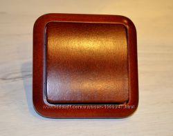 деревянный выключатель марки Siemens Дерево Красный клен
