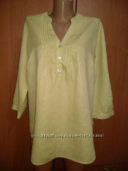 Красивая блузка лён ПОГ 56 см